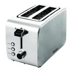 Igenix 2 Slice Steel Toaster FCL103/H