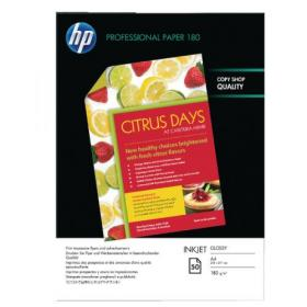 Hewlett Packard HP A4 White Professional Glossy Inkjet Paper 180gsm (Pack of 50) C6818A