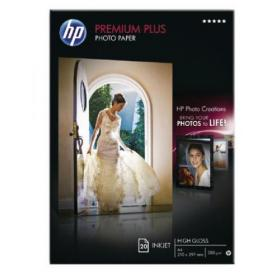 Hewlett Packard HP A4 White Premium Plus Glossy Photo Paper (Pack of 20) CR672A