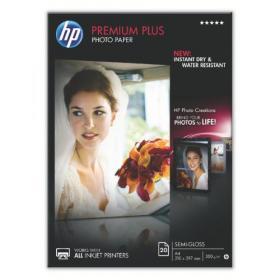 Hewlett Packard HP A4 White Premium Semi-Glossy Photo Paper (Pack of 20) CR673A