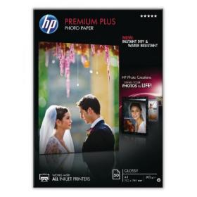 Hewlett Packard HP A4 White Premium Plus Glossy Photo Paper 300gsm (Pack of 50) CR674A