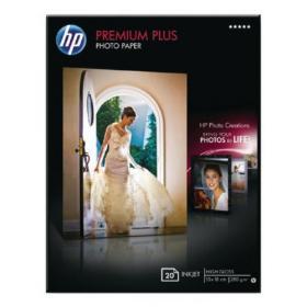 Hewlett Packard HP White Premium Plus Glossy Photo Paper (Pack of 20) CR676A