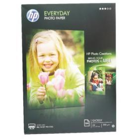 Hewlett Packard HP A4 White Everyday Glossy Photo Paper 200gsm (Pack of 100) Q2510A