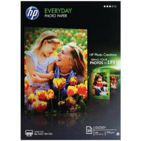 Hewlett Packard HP A4 White Everyday Glossy Photo Paper 200gsm (Pack of 25) Q5451A