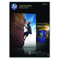 Cheap Stationery Supply of Hewlett Packard HP A4 White Advanced Glossy Photo Paper 250gsm (Pack of 25) Q5456A Office Statationery
