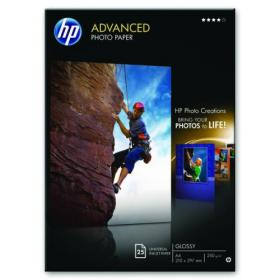 Hewlett Packard HP A4 White Advanced Glossy Photo Paper 250gsm (Pack of 25) Q5456A