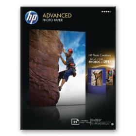Hewlett Packard HP White 13x18cm Advanced Glossy Photo Paper (Pack of 25) Q8696A
