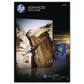 Hewlett Packard HP White A3 Advanced Glossy Photo Paper (Pack of 20) Q8697A