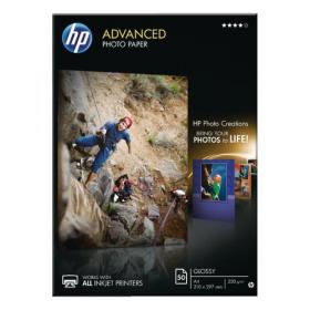 Hewlett Packard HP A4 White Advanced Glossy Photo Paper 250gsm (Pack of 50) Q8698A