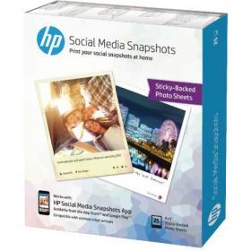 Hewlett Packard HP Social Media Snapshots 10x13cm (Pack of 25) W2G60A