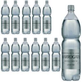 Harrogate Spring Bottled Water Sparkling 1.5L PET Silver Label/Cap (Pack of 12) P150122C