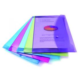 Rapesco Popper Wallet Foolscap Assorted (Pack of 5) 0688