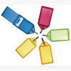 Cheap Stationery Supply of Helix Assorted Sliding Key Fobs Large (Pack of 50) F35020 Office Statationery