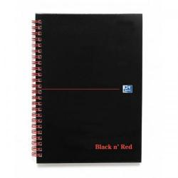 Cheap Stationery Supply of Black n Red Notebook Wirebound 90gsm Ruled Indexed A-Z 140pp A5 100080194 Pack of 5 Office Statationery