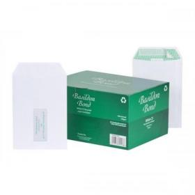 Basildon Bond Envelopes FSC Recycled Pocket P&S Window 120gsm C5 White Ref J80119 Pack of 500