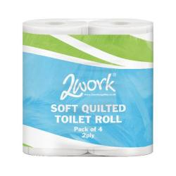 Cheap Stationery Supply of 2Work Luxury 2-Ply Quilted Toilet Roll 200 Sheets (Pack of 40) DQ4Pk Office Statationery