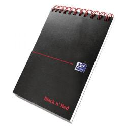 Cheap Stationery Supply of Black n Red Wirebound Reporters Notebook Pack of 5 400028336 Office Statationery