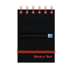 Cheap Stationery Supply of Black n Red Ruled Elasticated Wirebound Notebook 140 Pages A7 (Pack of 5) 400050435 Office Statationery