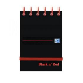 Black n Red Ruled Elasticated Wirebound Notebook 140 Pages A7 (Pack of 5) 400050435