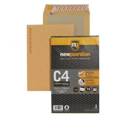 Cheap Stationery Supply of New Guardian Envelope C4 130gsm Board Back Peel and Seal Printed Please do not bend Pack of 15 16-BUK-008 Office Statationery