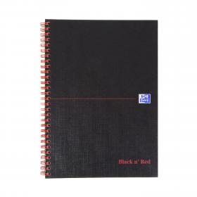 Black n Red Ruled Wirebound Notebook 140 Pages B5 (Pack of 5) JD31641