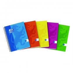 Cheap Stationery Supply of Oxford Touch Wirebound Hardback Notebook A5 Assorted (Pack of 5) 400110083 Office Statationery