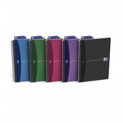 Cheap Stationery Supply of Oxford Poly Opaque Wirebound Notebook A5 Assorted (Pack of 5) 100101300 Office Statationery