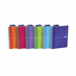 Cheap Stationery Supply of Oxford Poly Translucent Wirebound Notebook A5 Assorted (Pack of 5) 100104780 Office Statationery
