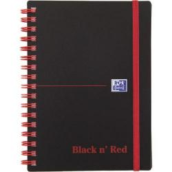 Cheap Stationery Supply of Black n Red Wirebound Elasticated Notebook A6 Polypropylene 140 Pages Feint Pk5 BOGOF JD811281 Office Statationery