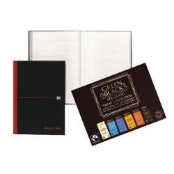 Cheap Stationery Supply of Black n Red A4 Casebound Notebook with Free Green & Blacks chocolate Office Statationery