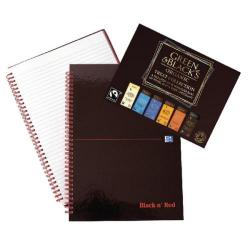 Cheap Stationery Supply of Black n Red A4 Wirebound Notebook with Free Green & Blacks chocolate Office Statationery
