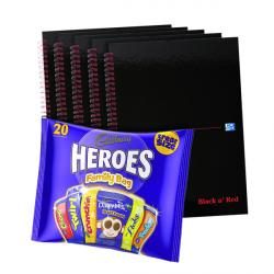 Cheap Stationery Supply of BUY BnR A4 WB Glossy 5 Pack Ruled Plus FOC Heroes Family Bag Office Statationery
