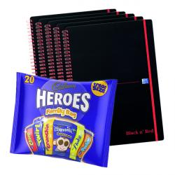 Cheap Stationery Supply of BUY BnR A4 WB Polyp 5 Pack Ruled Perforated Plus FOC Heroes Family Bag Office Statationery
