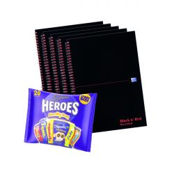 Cheap Stationery Supply of BUY BnR A4 WB Glosy 5 Pack Ruled Recycled Plus FOC Heroes Family Bag Office Statationery