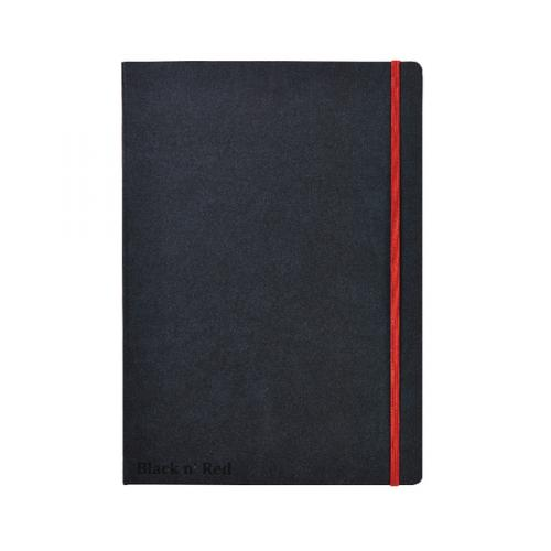 NoteBook Black n/' Red Casebound Hardback A4 noteBook