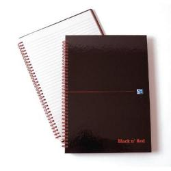 Cheap Stationery Supply of Black n Red Polypropylene A4 Notebook Ruled Margin (Pack of 5) Buy 1 Get 1 Free JD831000 Office Statationery