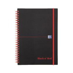 Cheap Stationery Supply of Black n Red Wirebound Elasticated Notebook A5 Polypropylene 140 Pages Pk5 Buy 1 Get 1 Free JD831001 Office Statationery