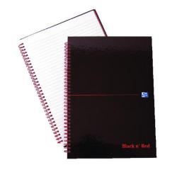 Cheap Stationery Supply of Black n Red Wirebound Hardback Notebook A4 Pk5 (2 Packs of 5) JD831010 Office Statationery