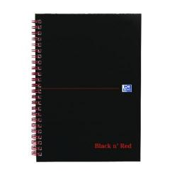 Cheap Stationery Supply of Black n Red Wirebound Hardback Notebook A5 (2 Packs of 5) JD831011 Office Statationery