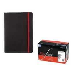 Cheap Stationery Supply of Black n Red Wirebound Notebook A4 (2 Packs of 5) JD814014 Office Statationery