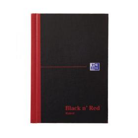 Black n Red Casebound Hardback Notebook 192 Pages A6 (Pack of 5) 100080429