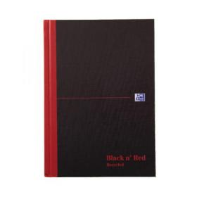 Black n Red Ruled Recycled Casebound Hardback Notebook 192 Pages A5 (Pack of 5) 100080430