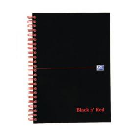 Black n Red Wirebound Notebook 100 Pages A5 (Pack of 10) D66369