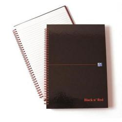Cheap Stationery Supply of Black n Red Recycled Polypropylene Wirebound Notebook 140 Pages A4 (Pack of 5) 846350973 Office Statationery