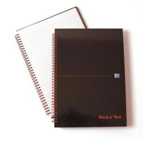 Black n Red Recycled Polypropylene Wirebound Notebook 140 Pages A4 (Pack of 5) 846350973