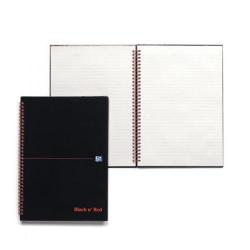 Cheap Stationery Supply of Black n Red Recycled Ruled Wirebound Hardback Notebook A4 (Pack of 5) 846350972 Office Statationery