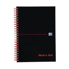 Black n Red A-Z Wirebound Hardback Notebook A5 (Pack of 5) 100080194