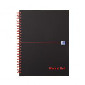 Black n Red Margin Ruled Wirebound Hardback Notebook 140 Pages A5+ (Pack of 5) 846354904