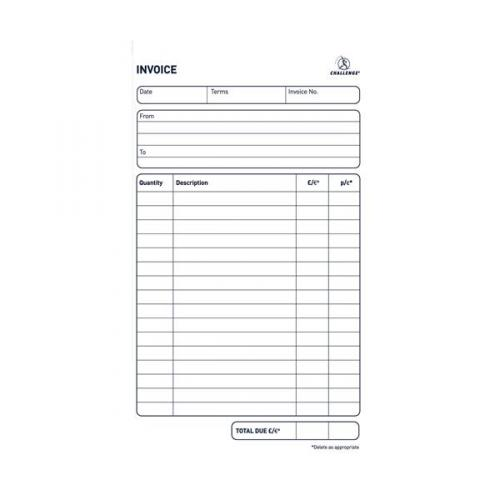 Challenge Duplicate Invoice Book Pack of 5