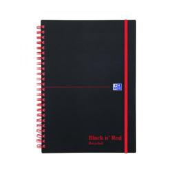 Cheap Stationery Supply of Black n Red Recycled Wirebound Polypropylene Notebook 140 Pages A5 (Pack of 5) 846350963 Office Statationery
